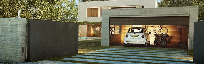 puertas automáticas enrollables para garajes Cematic